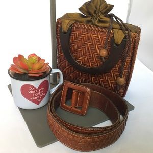 Organic Small Bag and Leather Belt Bundle